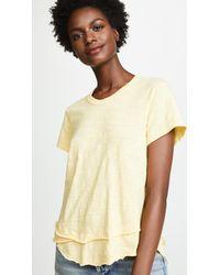 Wilt - Multicolor Short Sleeve Mock Layer Tee - Lyst