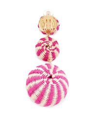 Mercedes Salazar - Pink Fiesta Tropical Earrings - Lyst