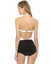 Norma Kamali - White Xo Bill Mio Combo Swimsuit - Lyst