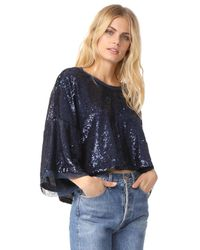 Free People - Blue Champagne Dreams Tee - Lyst