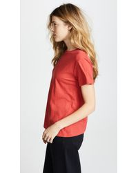 Vince - Red Crew Neck Tee - Lyst