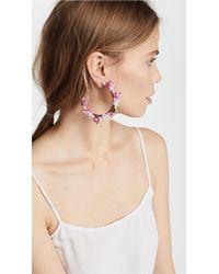 Mercedes Salazar - Pink Enchanted Lilies Hoop Earrings - Lyst