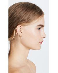 Joanna Laura Constantine - Metallic Crisscross Imitation Pearl Earring Set - Lyst