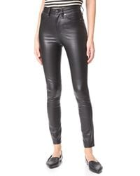 Veronica Beard - Black Kate Leather Skinny Jeans - Lyst