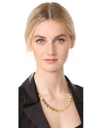 Elizabeth and James - Metallic Goldie Necklace - Lyst