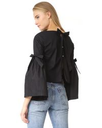 Free People - Black So Obviously Yours Top - Lyst