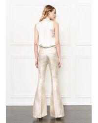 Rachel Zoe - Rena Flared Metallic Trousers - Lyst