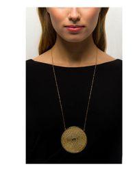 Rachel Zoe - Metallic Kelly Pendant Necklace - Lyst