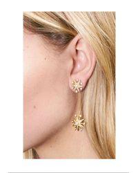 Rachel Zoe - Metallic Clea Crystal Pavé Starburst Drop Earrings - Lyst