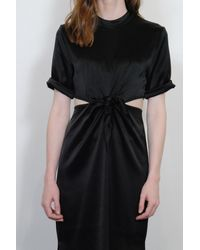 Nanushka - Bhumi Tie Detail Dress In Black - Lyst