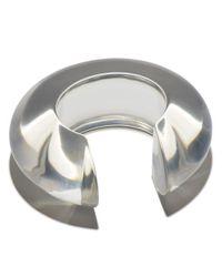 Lizzie Fortunato - Metallic Arc Cuff In Clear - Lyst