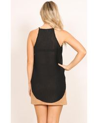 Showpo - Right On Time Top In Black - Lyst