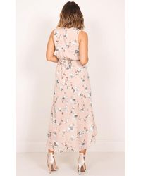 Showpo - Pink Morning To Night Dress In Blush Floral - Lyst