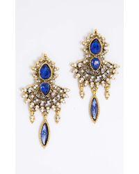 Showpo - Multicolor Ceremonial Earrings In Gold - Lyst