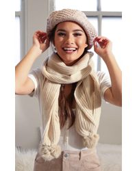 Showpo - Natural In One Place Scarf In Beige - Lyst