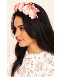 Showpo - Multicolor Katie Headband In Cream Pink - Lyst