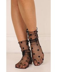 Showpo - Quinn Socks In Black - Lyst
