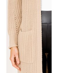 Showpo - Natural Out Of Line Cardigan In Oatmeal - Lyst