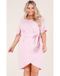 Showpo - Pink Benchmark Dress In Blush - Lyst