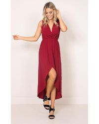 Showpo - Red Morning To Night Dress In Wine - Lyst