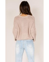 Showpo - Natural Kiss The Sun Knit In Mocha - Lyst