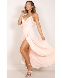Showpo - Pink Something Like Love Maxi Dress In Blush - Lyst