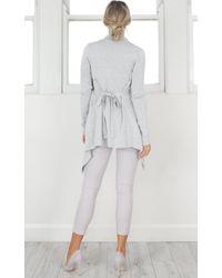 Showpo | Gray Making Waves Cardigan In Grey | Lyst