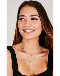Showpo - Multicolor Good Karma Necklace In Silver - Lyst