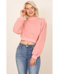 Showpo | Walking On Sunshine Sweater In Pink | Lyst
