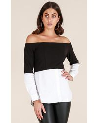 Showpo - The Sweet Life Top In Black - Lyst