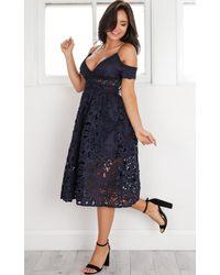 Showpo - Blue Bird Of Paradise Dress In Navy - Lyst