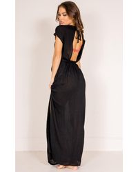 Showpo - To The Moon Beach Dress In Black - Lyst