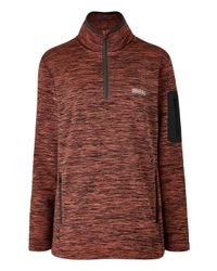 Simply Be - Brown Snowdonia Half Zipper Fleece - Lyst