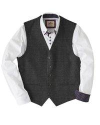 Simply Be - Gray Joe Browns Check Suit Waistcoat for Men - Lyst