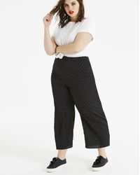 Simply Be - Black Fashion Union Spot Print Wide Legged Trouser - Lyst