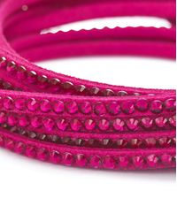 Simply Be - Pink Fabric Bracelet - Lyst