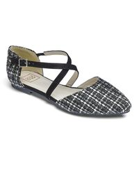 Simply Be - Multicolor Sole Diva Crossover Flats - Lyst