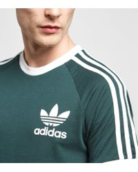 Adidas Originals - Green California Short Sleeve T-shirt for Men - Lyst