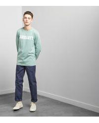 Carhartt WIP - Green Long Sleeved College T-shirt for Men - Lyst