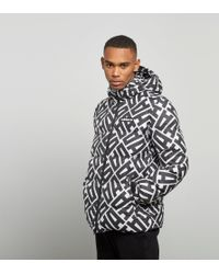 Adidas Originals - Black Graphic Heavy Jacket for Men - Lyst
