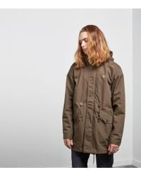Fred Perry - Green Fishtail Parka for Men - Lyst