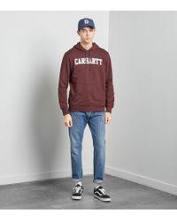 Carhartt WIP - Red College Overhead Hoody for Men - Lyst