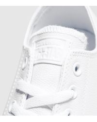 Converse | White All Star Ox Leather Mono | Lyst