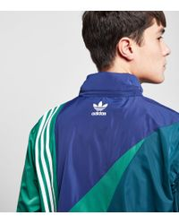 Adidas Originals - Blue Linear Windbreaker Jacket - Size? Exclusive for Men - Lyst