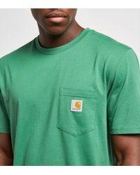 Carhartt WIP - Green Pocket T-shirt for Men - Lyst