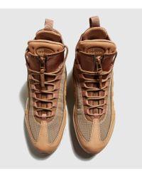 Nike Brown Air Max 95 Sneakerboot Flax for men