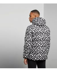 Adidas Originals - Black Graphic Heavy Jacket for Men - Lyst