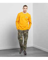 Fila - Orange Mast Crew Jumper - Size? Exclusive for Men - Lyst