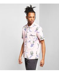 Stussy - Pink Cactus Short-sleeved Shirt for Men - Lyst