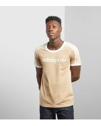 Adidas Originals - Pink Linear T-shirt - Size? Exclusive for Men - Lyst